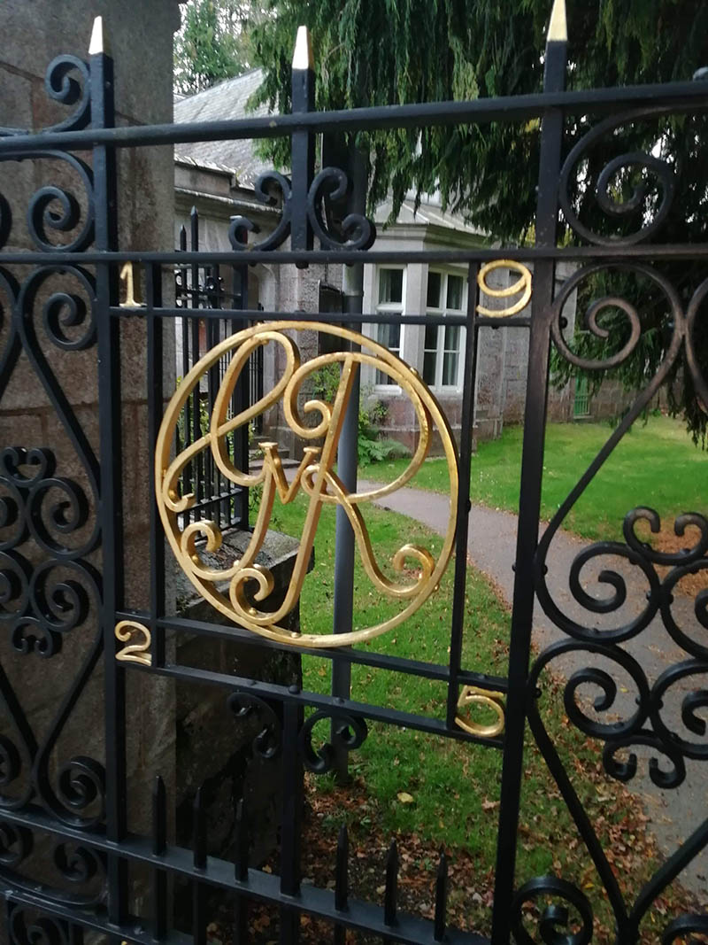 Monarchy Monogrammed Gates at Balmoral Castle